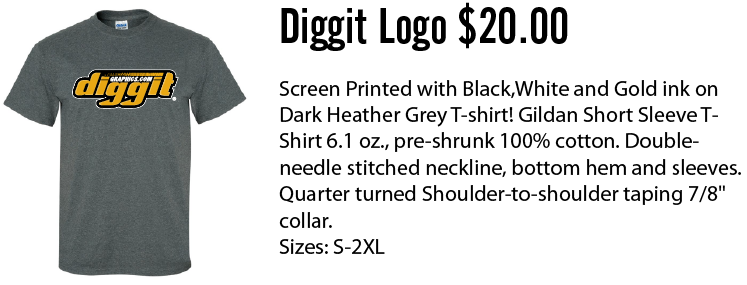 Diggit logo t shirt dark heather for T shirt printing columbia mo